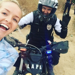 Melanie Camp with LAPD Offroad Unit